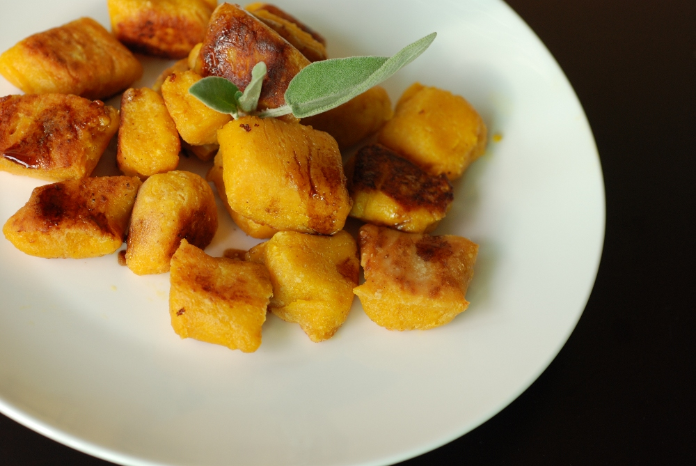 Pan-Fried Pumpkin Gnocchi with Brown Butter Sage | the taste space