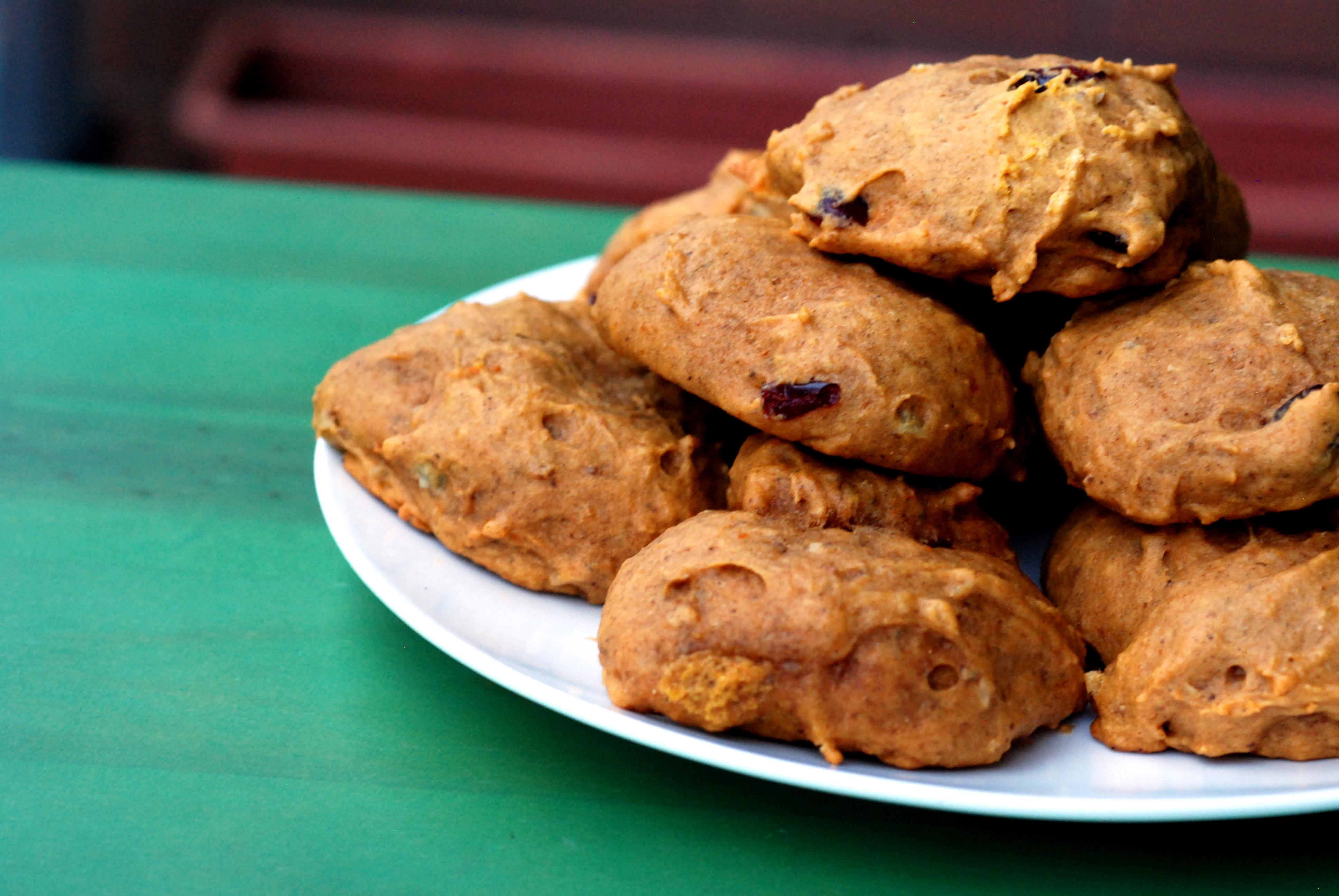 Super Soft Pumpkin Cookies with Cranberries, Walnuts and Orange Zest ...