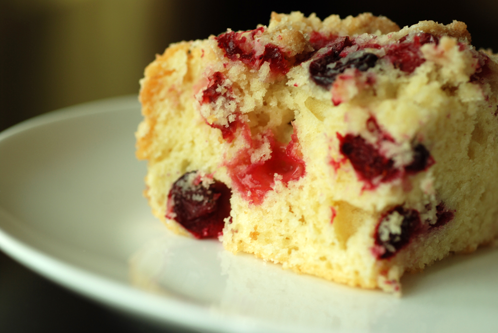 Cranberry Buckle With Vanilla Crumb | the taste space