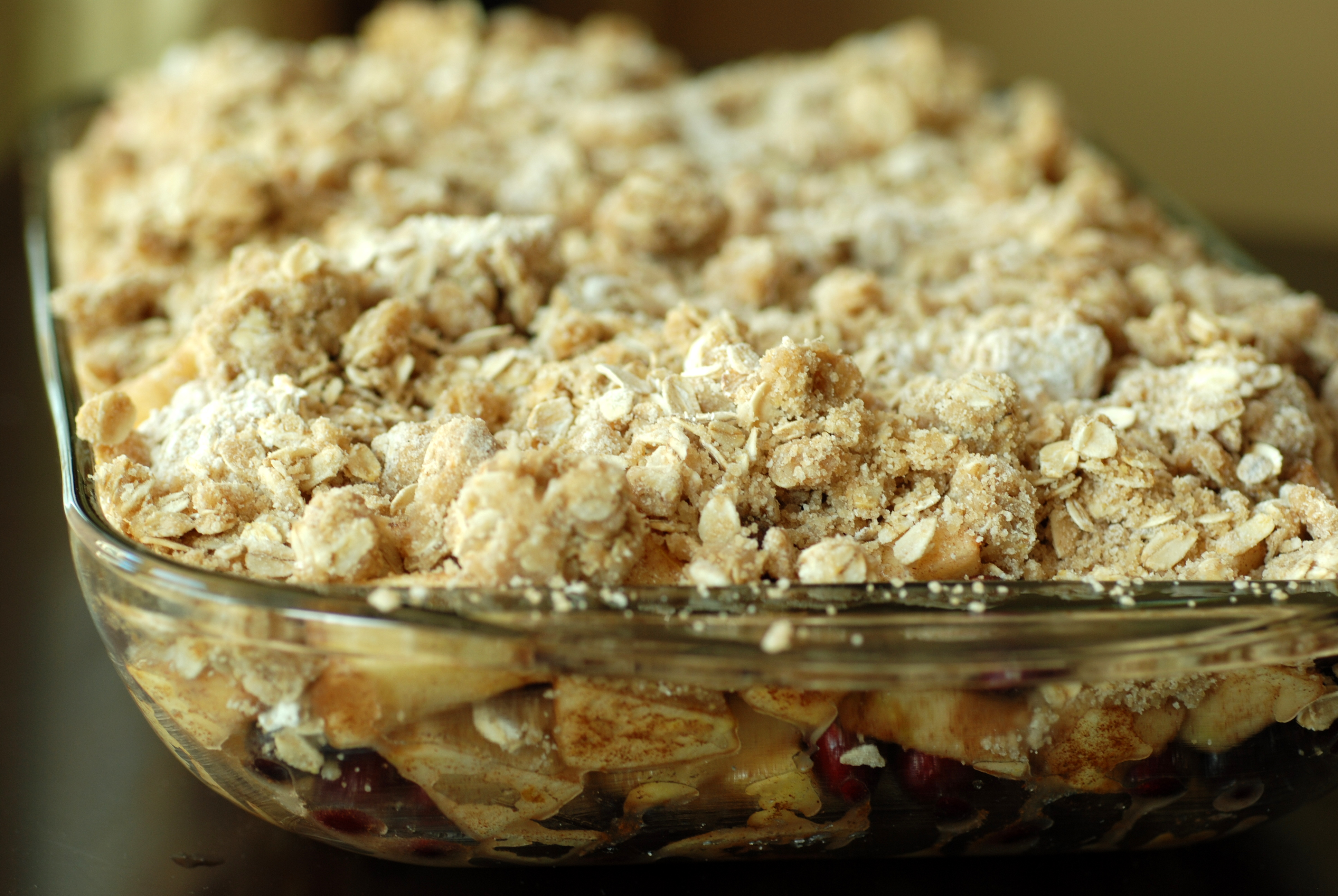 Apple Cranberry Oat Crumble | the taste space