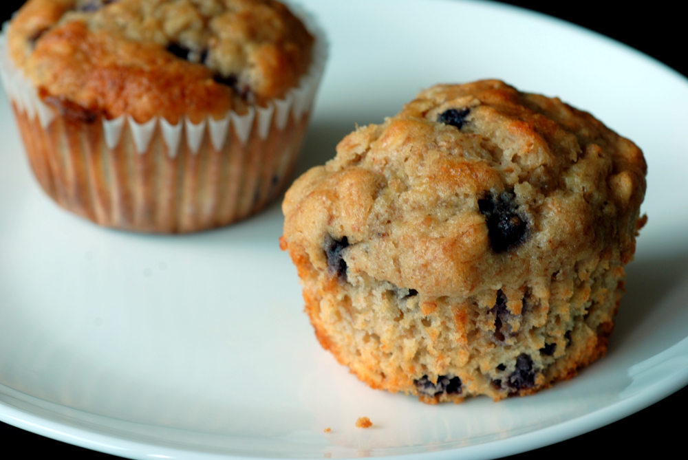 Wild Blueberry Banana Oatmeal Muffins | the taste space