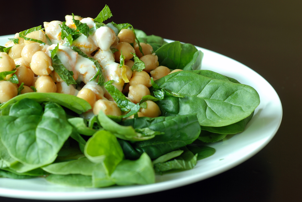 ... sauce dressing chickpea and spinach salad chickpea and spinach salad
