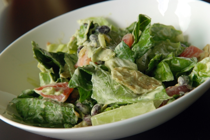 Mexican Salad with Creamy Avocado Dressing | the taste space