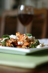 Orzo with Roasted Shrimp, Tomatoes, and Garlic with Feta and Fresh ...