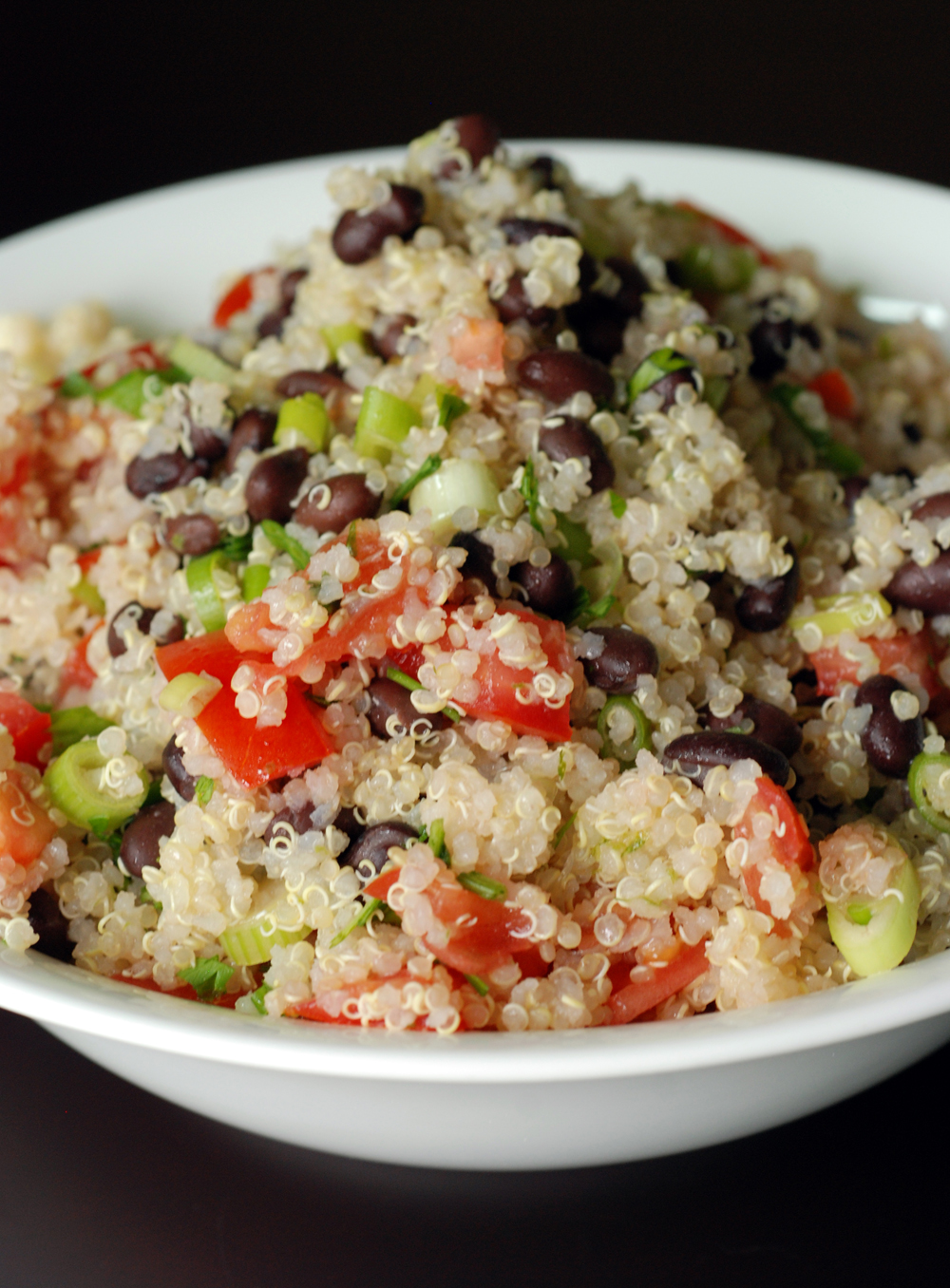 Black Bean and Tomato Quinoa Salad | the taste space