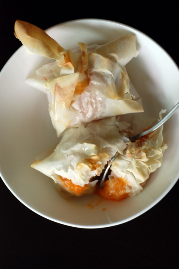 Apricot Parcels with Honey Glaze