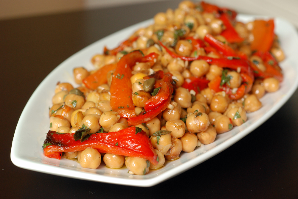 Chickpea Salad With Roasted Red Peppers Recipes — Dishmaps