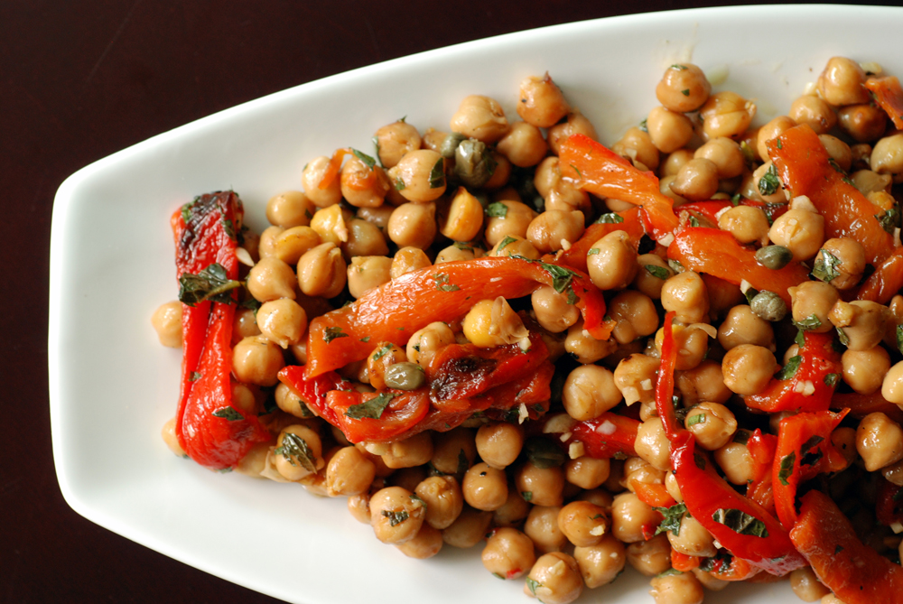 Spanish Chickpea Salad with Capers and Roasted Red Peppers | the taste ...
