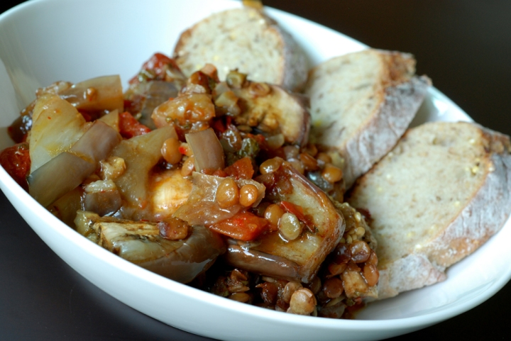 Turkish Eggplant, Tomato and Lentil Stew with Pomegranate | the taste ...