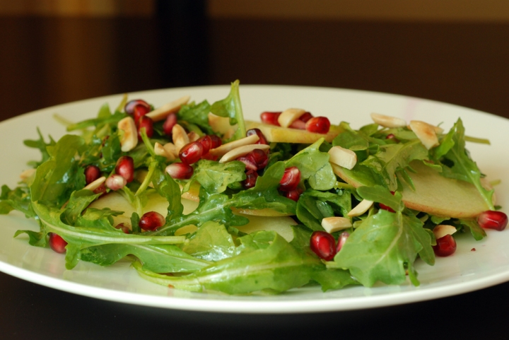 ... , Pomegranate, and Arugula Salad with Apple Cider-Honey Vinaigrette