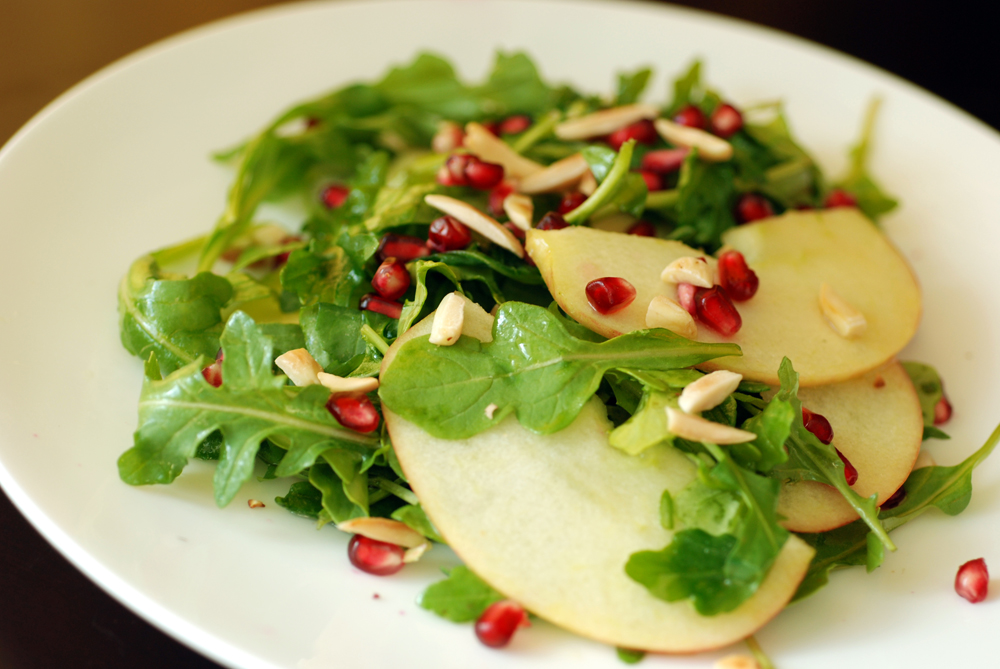 Arugula, Apple, And Pomegranate Salad With Cider-Honey ...