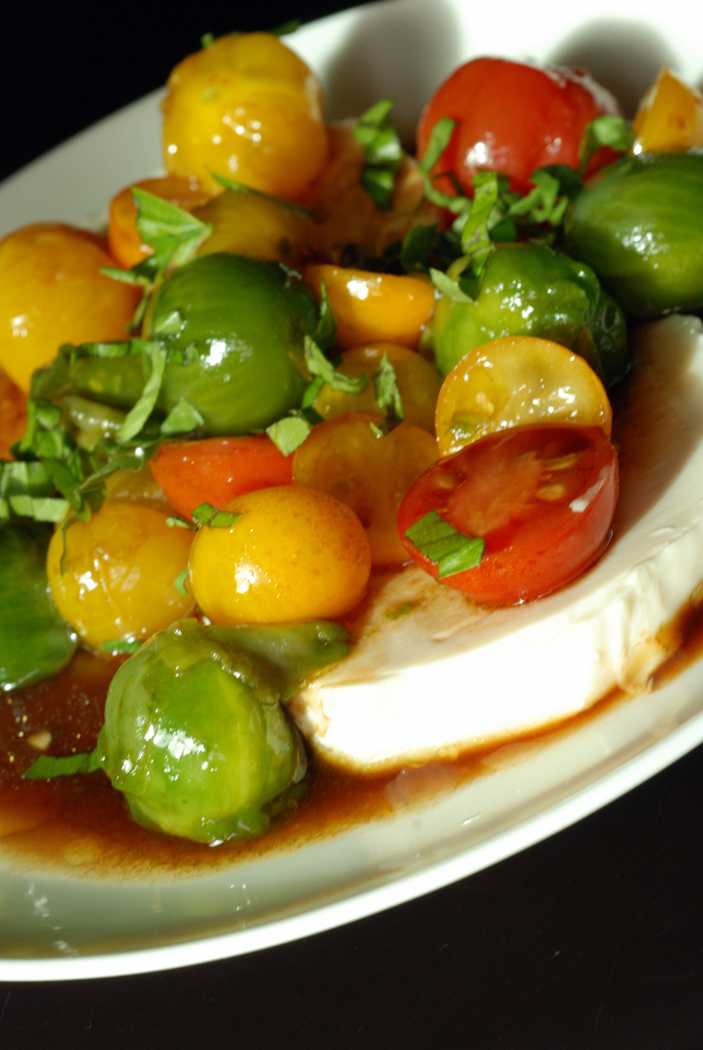 Japanese Tomato Tofu Caprese Salad | the taste space