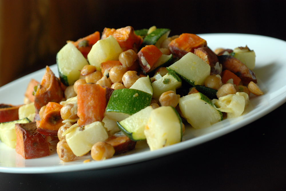 yam zucchini and chickpea salad the taste space. Black Bedroom Furniture Sets. Home Design Ideas