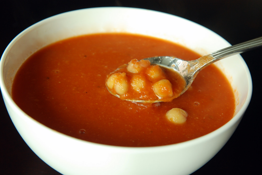 Tomato Chickpea Soup with Rosemary | the taste space