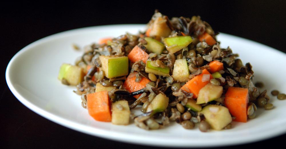 Apple, Lentil and Wild Rice Salad | the taste space