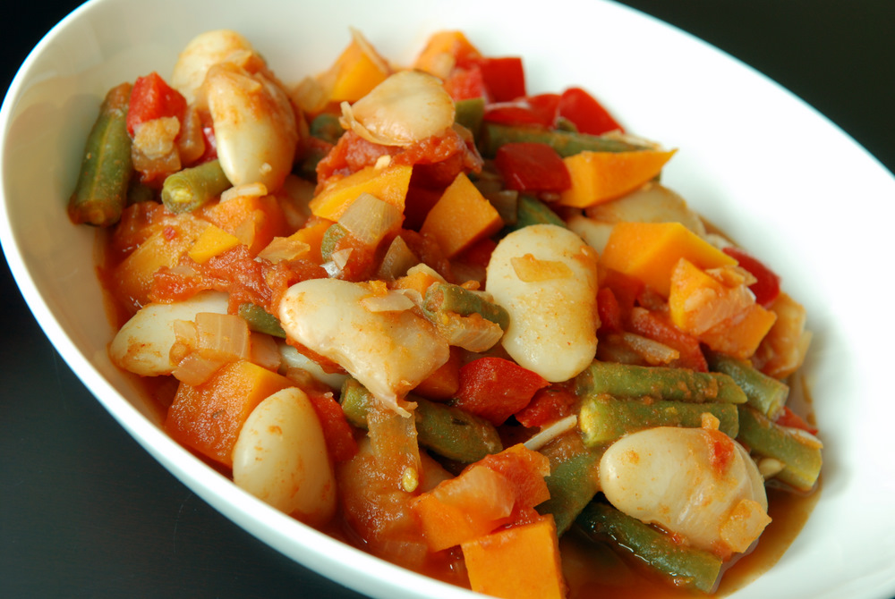 Spanish Green Bean and Lima Bean Stew