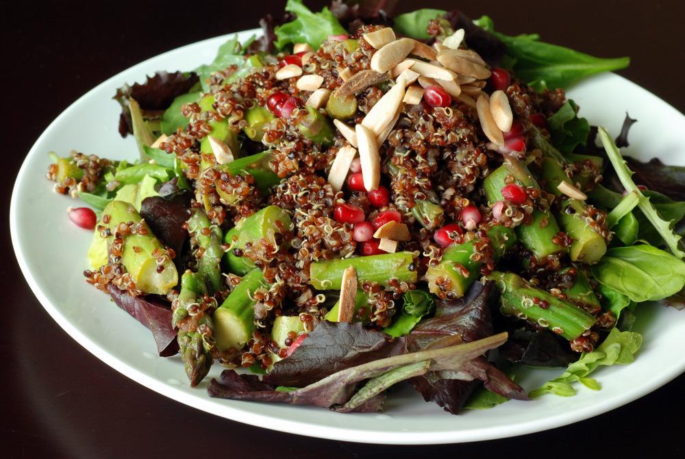 Pomegranate-Lime Asparagus Quinoa Salad the taste space
