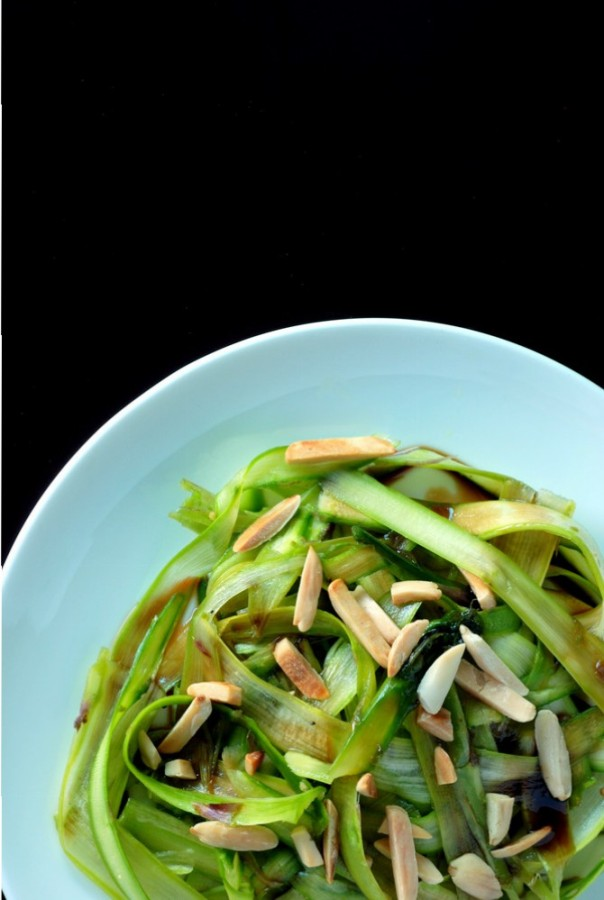 Asparagus Ribbon Salad with Mosto Cotto and Almonds