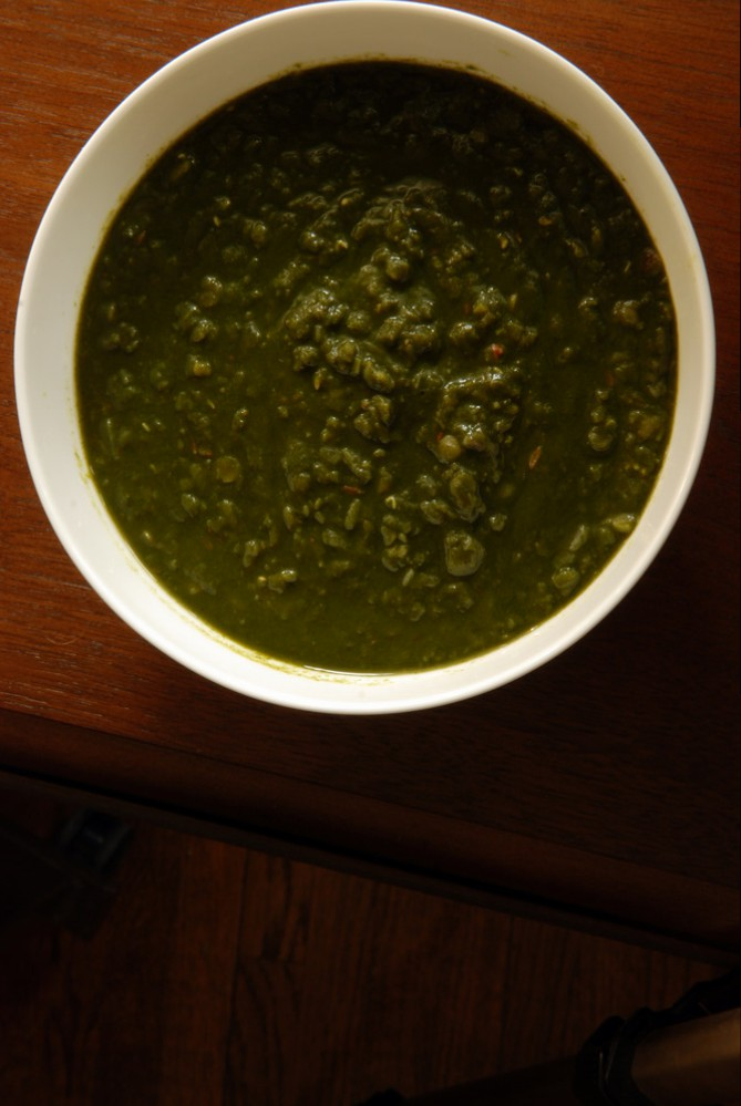 Indian Lentils with Spinach (Dal Palak)