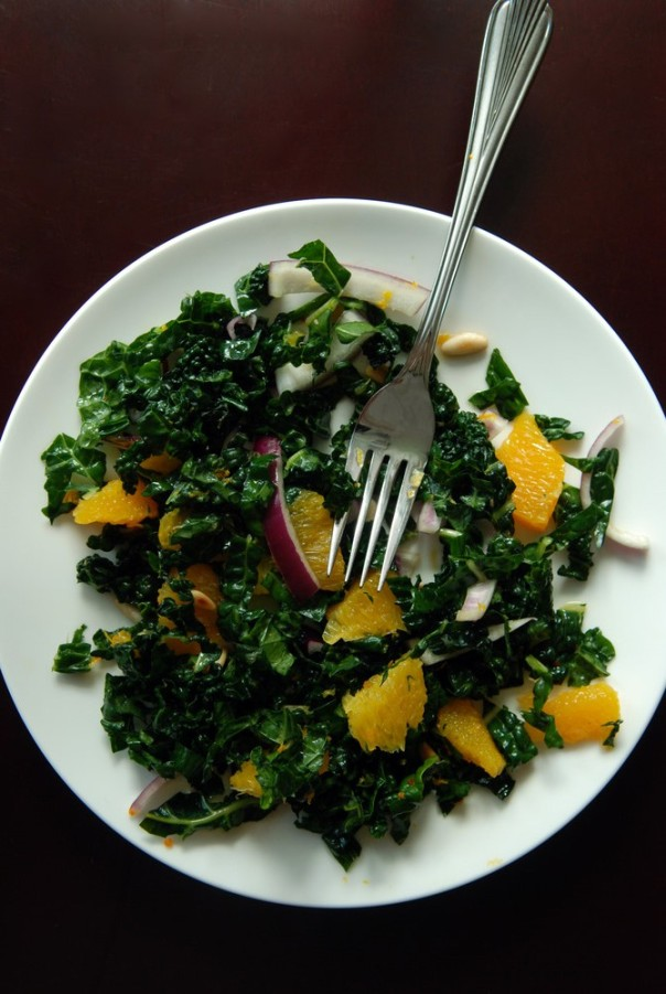 Raw Citrus Kale Salad