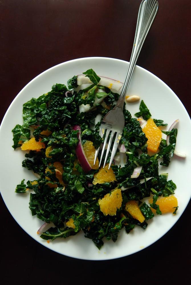 Raw Citrus Kale Salad