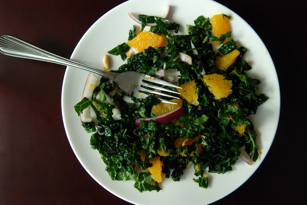 Asian Raw Kale Salad Recipe — Dishmaps