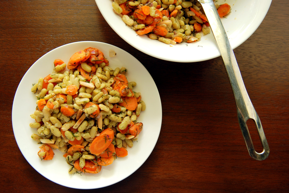 white bean salad white bean salad with carrots carrot dill and white ...