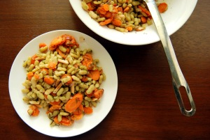 Warm Carrot and Flageolet Salad with Dill