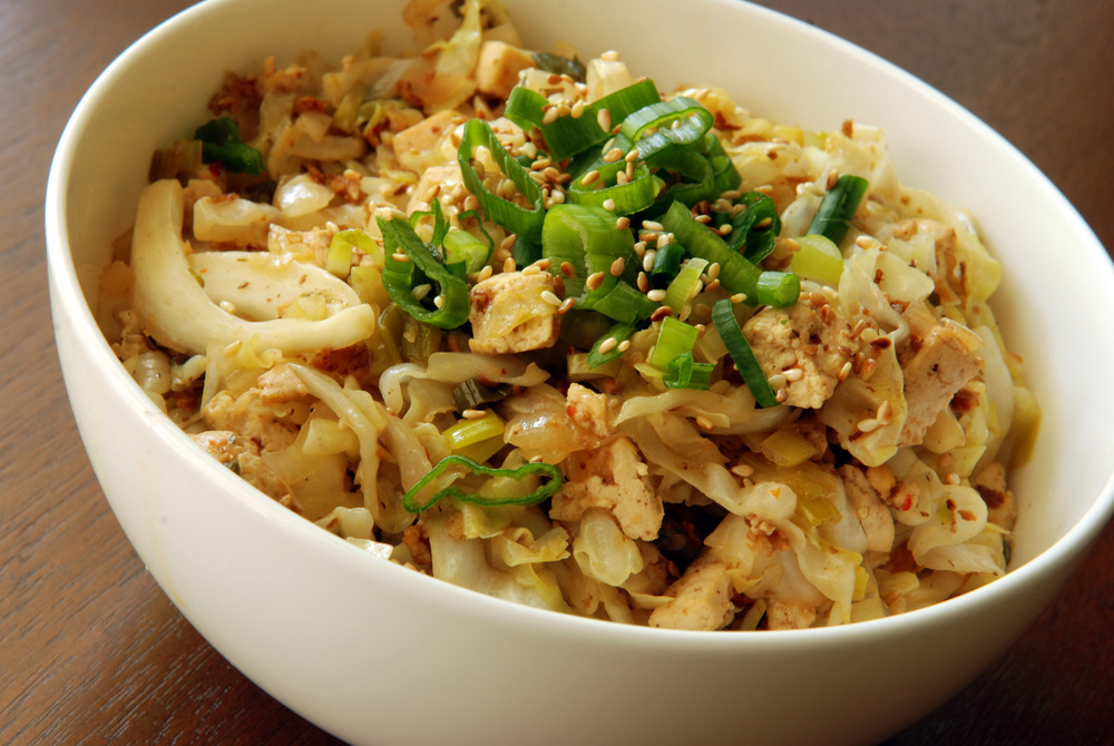 Chinese Sweet and Sour Cabbage With Tofu | the taste space
