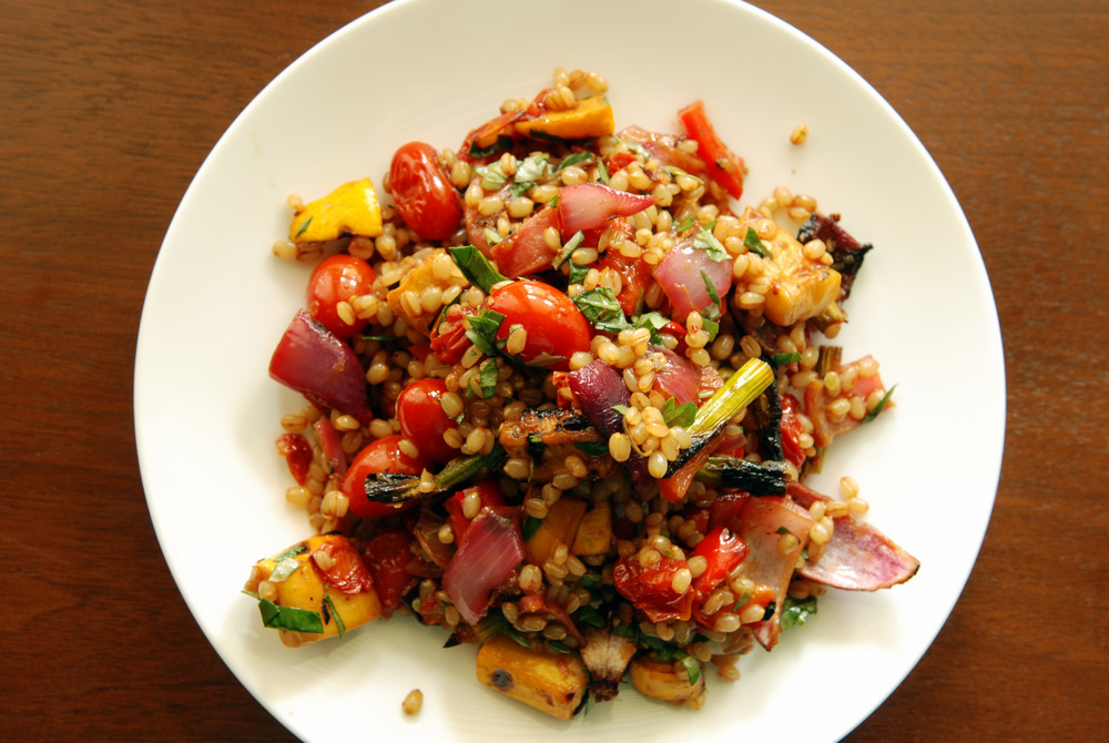 Wheat Berry Salad with Pomegranate-Roasted Vegetables | the taste ...