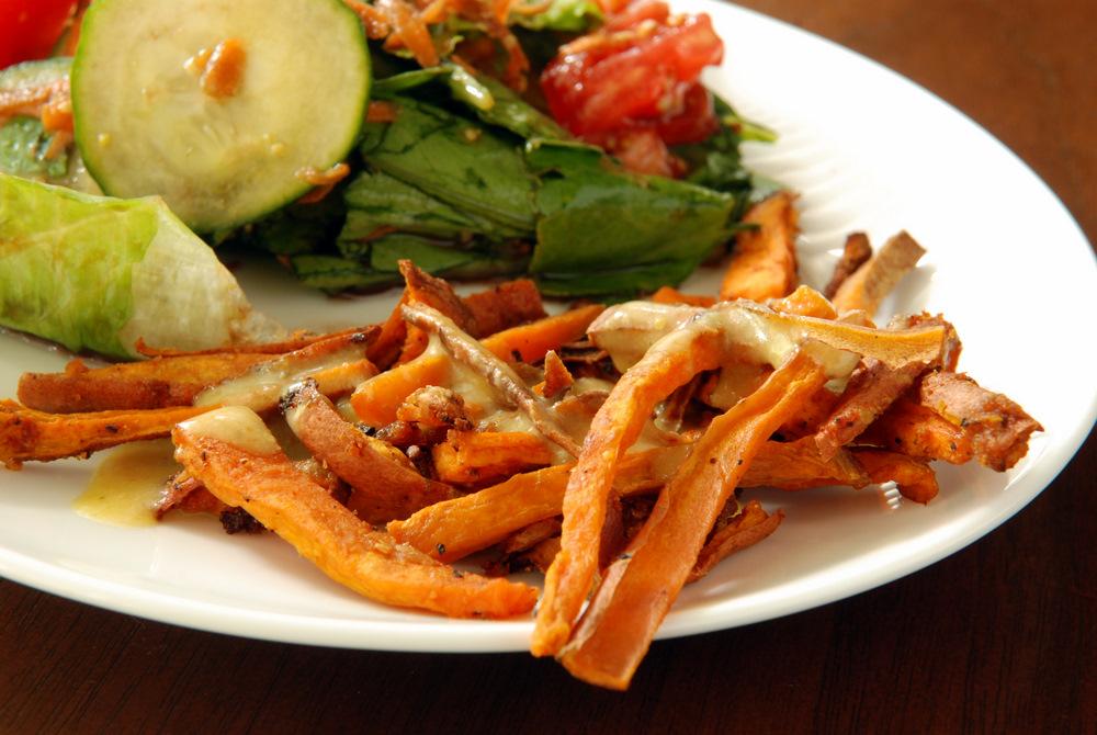 Oven-Baked Sweet Potato Fries with Fresh's Miso Gravy | the taste ...