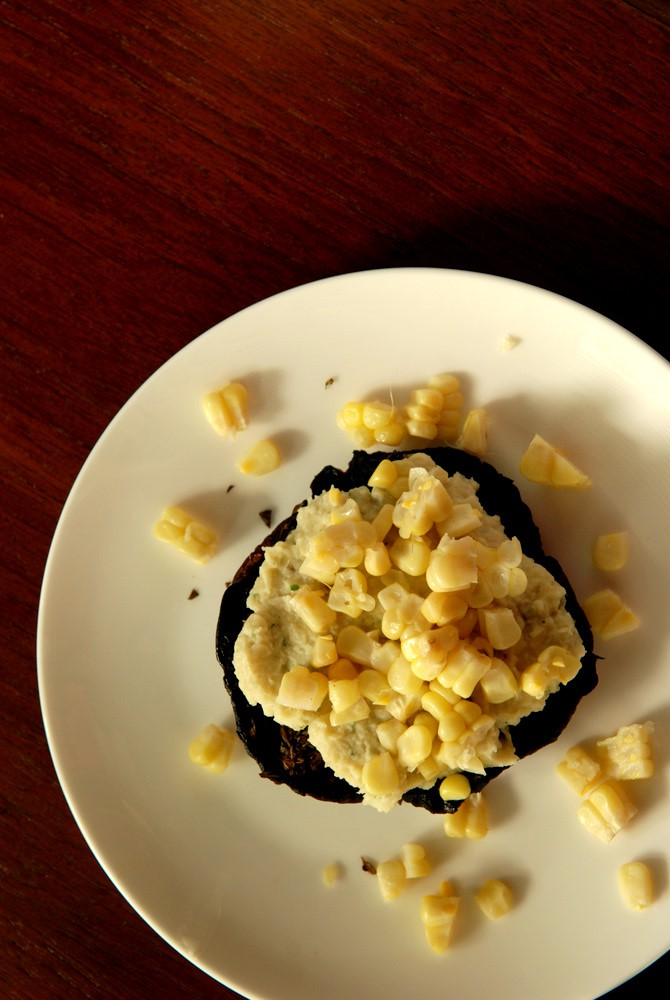... with a Garlic-Thyme White Bean Puree and Sweet Corn | the taste space