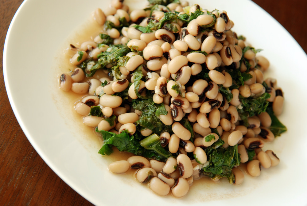 Garlicky and lemony black eyed pea and kale salad the taste space here are some other recipes with black eyed peas forumfinder Choice Image