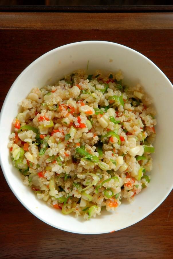 Lime-Cilantro Quinoa Corn Salad