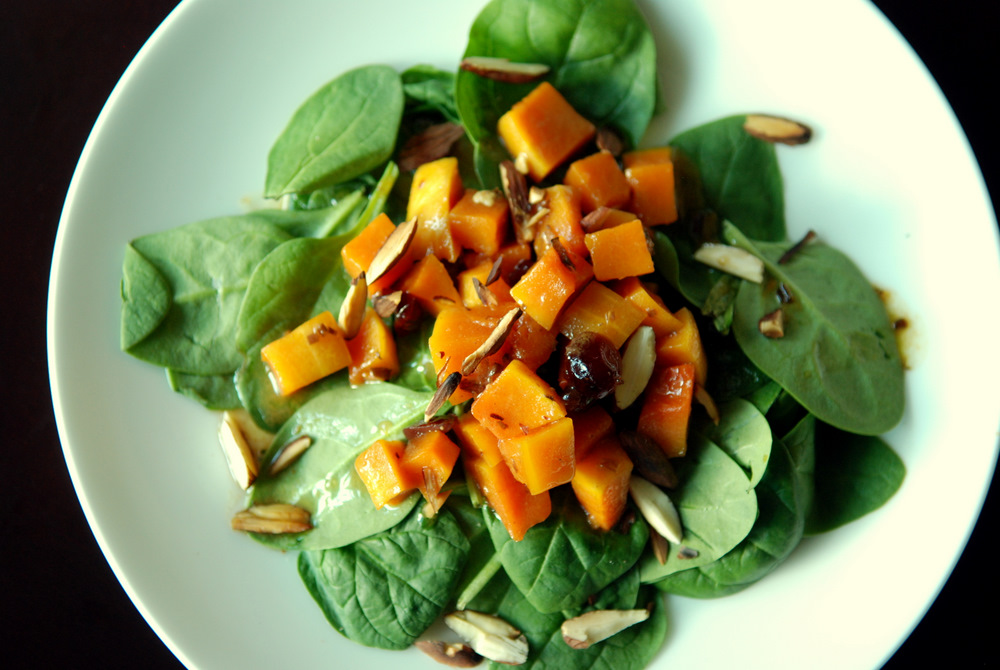 Roasted Butternut Squash Salad with a Warm Vanilla-Cider Vinaigrette ...