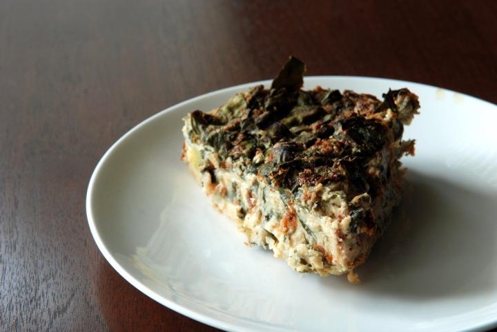 Mediterranean Crustless Chickpea Flour Quiche