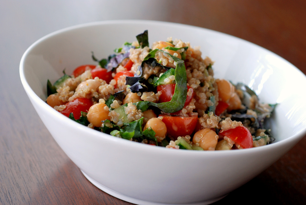 Quinoa and Chickpea Salad with a Balsamic Tahini Dressing | the taste ...