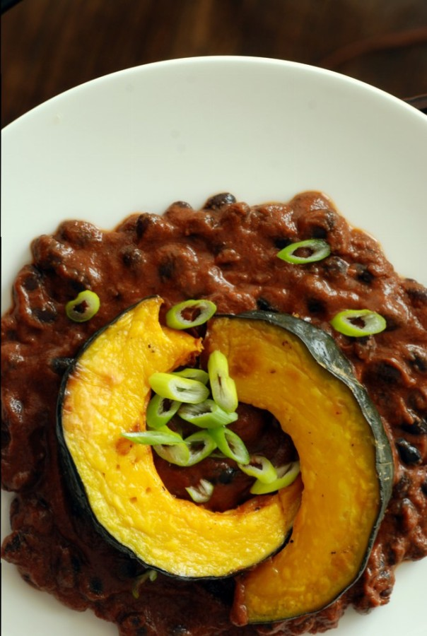 Mexican Black Bean and Kabocha Squash Rancheros