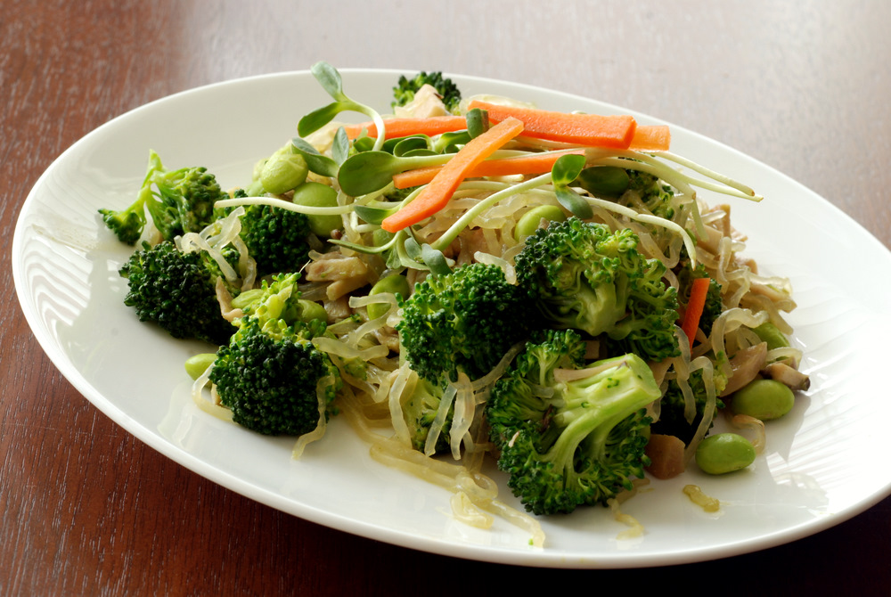 ... Cilantro Ginger Sauce Stirfry with Broccoli and Shiitake Mushrooms