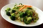 Creamy Thai Cilantro Ginger Sauce Stirfry with Broccoli and Shiitake Mushrooms