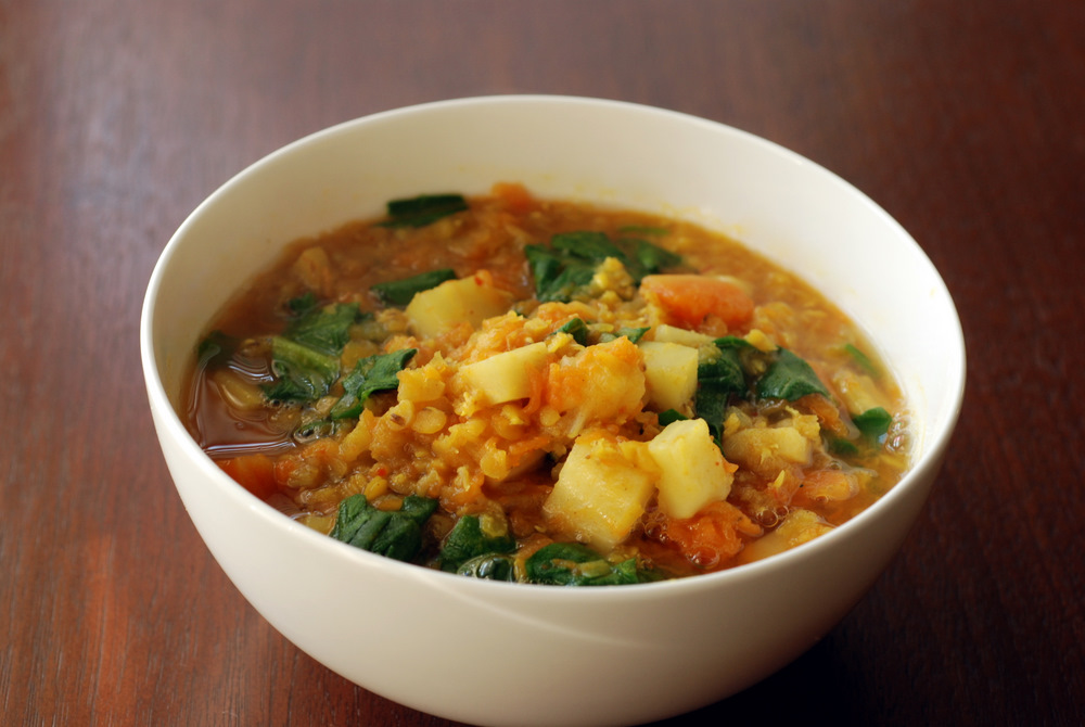 Vegan Squash Or Pumpkin Stew With Chickpeas And Carrots Recipes ...