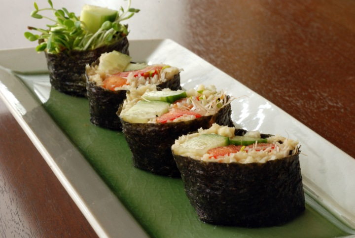 Raw Parsnip Sushi Rolls, Two Ways