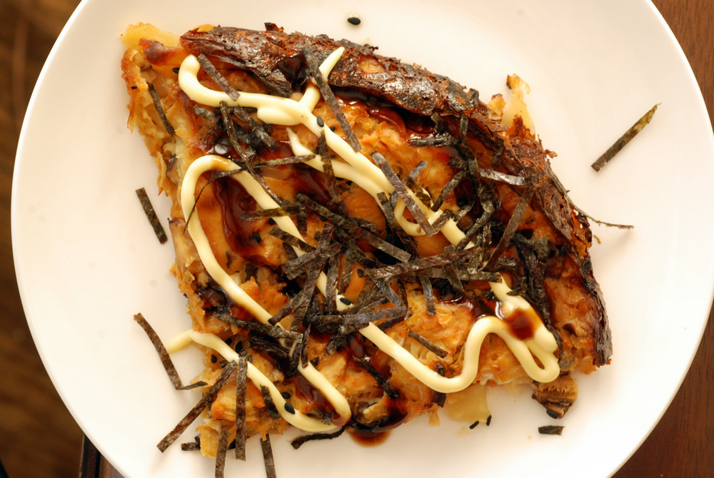 Japanese Okonomiyaki Vegetable Pancake