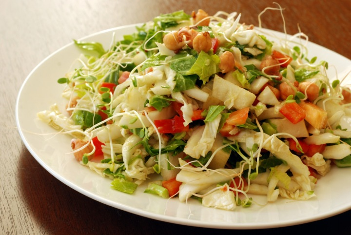 Cabbage and Asian Pear Salad with Smoky Avocado and Cumin Dressing