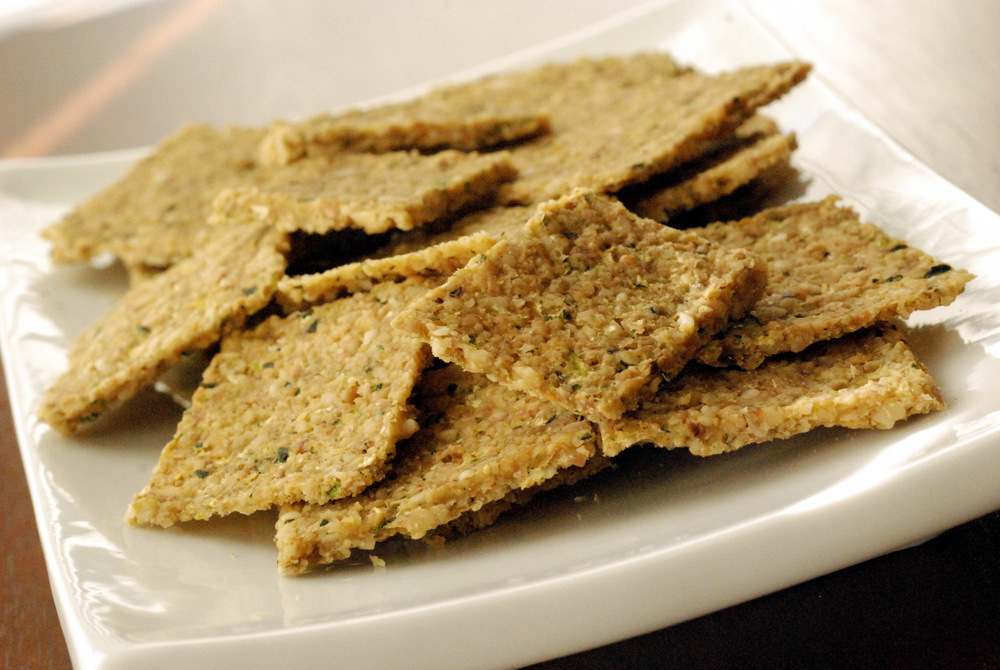 Raw walnut zucchini crackers the taste space raw walnut zucchini crackers forumfinder Images