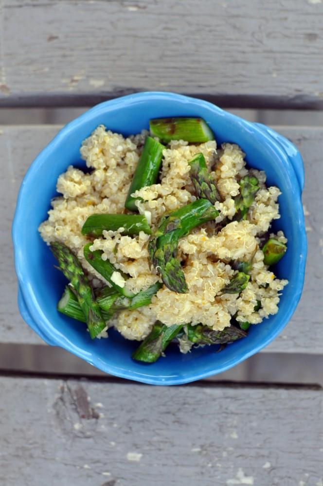Lemon Asparagus Quinoa Toss