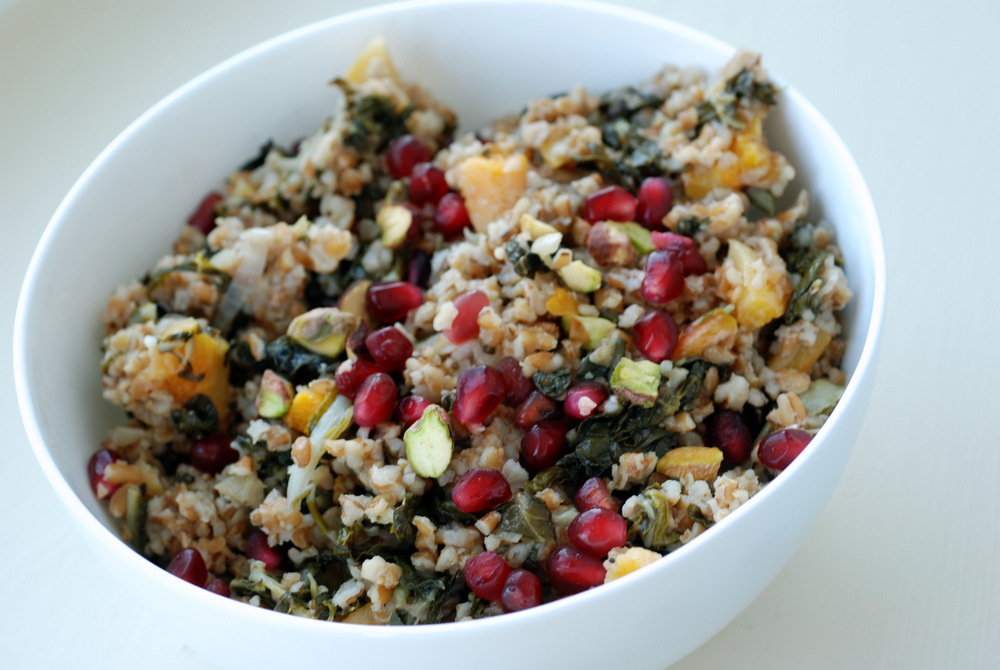 Bulgur Pilaf Salad with Pomegranate, Dried Apricots, Pistachios and ...