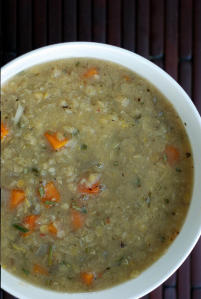 Greek Red Lentil Soup with Lemon and Rosemary (and How to ...