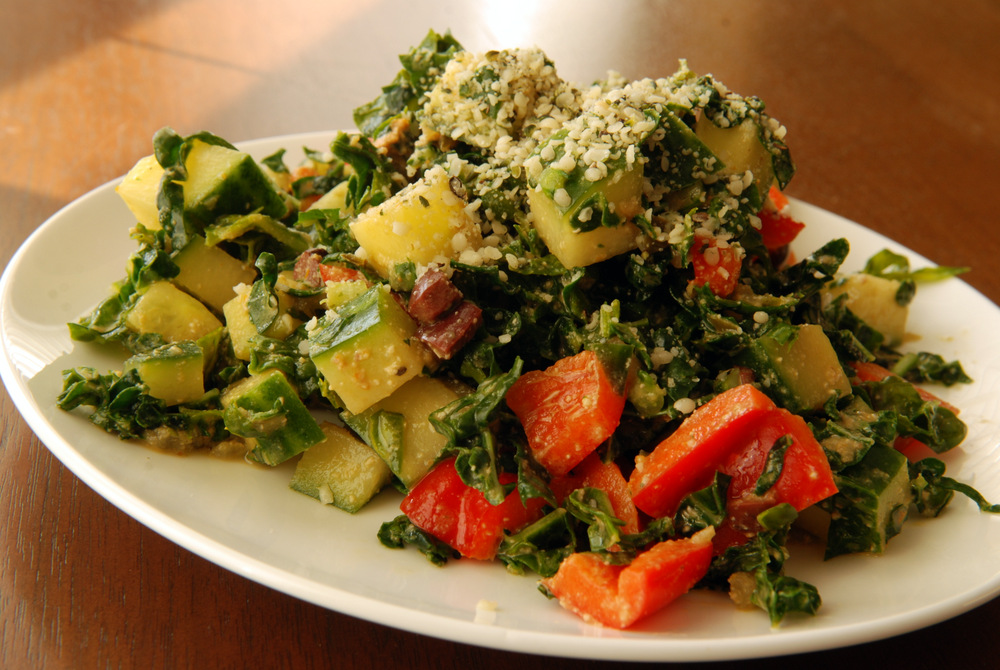 Kale Salad with a Raw Thousand Island Dressing | the taste space