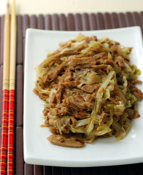 Chinese Cabbage And Five-Spice Seitan With Fermented Black Beans - Vegan Chinese Recipes